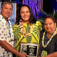 Photo: OHA Staff receive Native Hawaiian Housing award