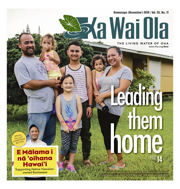 Ka Wai Ola November 2018 cover