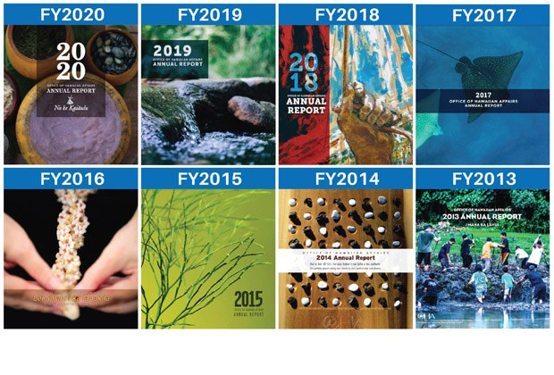 OHA Annual Report Covers: FY 2013-2020